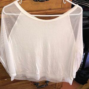 Cute white mesh top